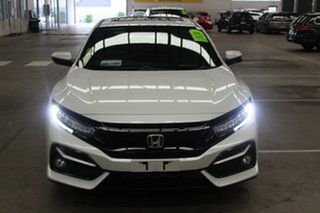 2020 Honda Civic 10th Gen MY20 VTi-LX Platinum White 1 Speed Constant Variable Hatchback.
