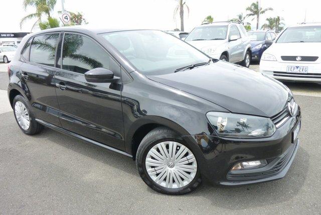 Used Volkswagen Polo 6R MY16 66 TSI Trendline Cheltenham, 2016 Volkswagen Polo 6R MY16 66 TSI Trendline Black 7 Speed Auto Direct Shift Hatchback