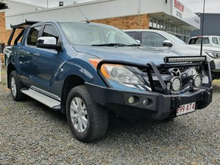 2013 Mazda BT-50 XTR Blue 6 Speed Automatic Dual Cab