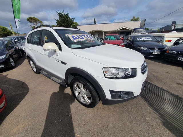 Used Holden Captiva CG Series II 7 AWD CX Morphett Vale, 2012 Holden Captiva CG Series II 7 AWD CX White 6 Speed Sports Automatic Wagon