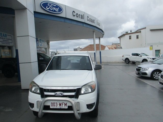 Used Ford Ranger PK XL (4x2) Bundaberg, 2011 Ford Ranger XL H/R XL (4x2) White 5 Speed Automatic Dual Cab