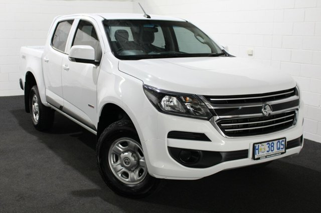 Used Holden Colorado RG MY18 LS Pickup Crew Cab Glenorchy, 2018 Holden Colorado RG MY18 LS Pickup Crew Cab Summit White/black C 6 Speed Manual Utility