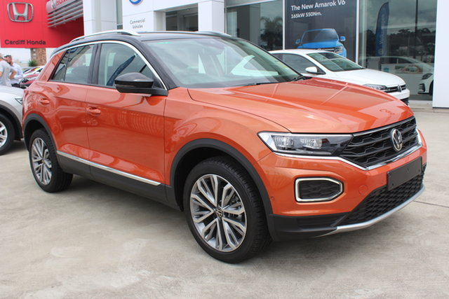 New Volkswagen T-ROC A1 MY21 110TSI Style Cardiff, 2020 Volkswagen T-ROC A1 MY21 110TSI Style Energetic Orange Metallic/blac 8 Speed Sports Automatic