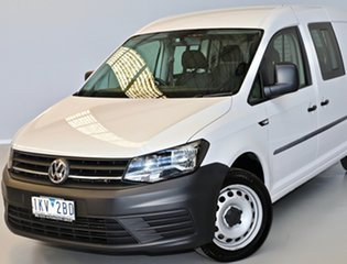 2017 Volkswagen Caddy 2KN MY18 TDI250 Crewvan Maxi DSG White 6 Speed Sports Automatic Dual Clutch