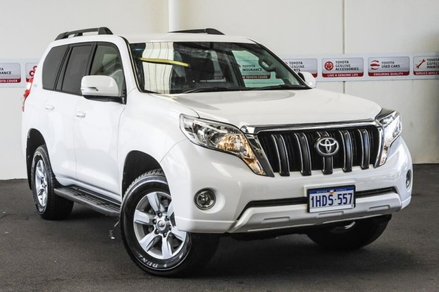 Pre-Owned Toyota Landcruiser Prado GDJ150R GXL Myaree, 2016 Toyota Landcruiser Prado GDJ150R GXL Glacier White 6 Speed Sports Automatic Wagon