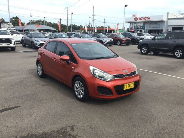 Used Kia Rio UB MY13 S Cardiff, 2012 Kia Rio UB MY13 S Red 4 Speed Sports Automatic Hatchback