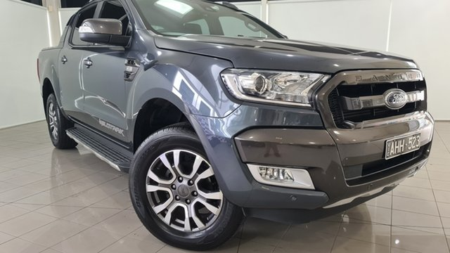 Used Ford Ranger PX MkII Wildtrak Double Cab Deer Park, 2016 Ford Ranger PX MkII Wildtrak Double Cab Grey 6 Speed Sports Automatic Utility