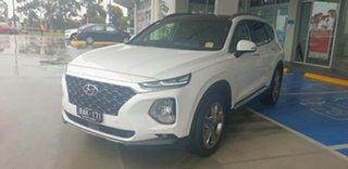 2019 Hyundai Santa Fe TM MY19 Highlander White Cream 8 Speed Sports Automatic Wagon