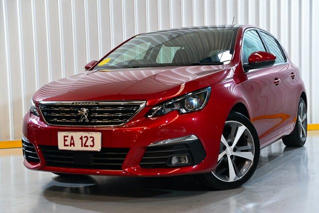 Used Peugeot 308 T9 MY18 Allure Hendra, 2018 Peugeot 308 T9 MY18 Allure Red/Black 6 Speed Automatic Hatchback