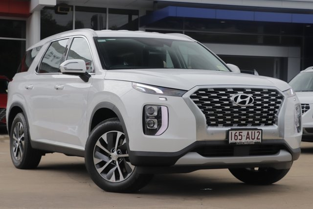Demo Hyundai Palisade LX2.V1 MY21 AWD Beaudesert, 2020 Hyundai Palisade LX2.V1 MY21 AWD White Cream 8 Speed Sports Automatic Wagon
