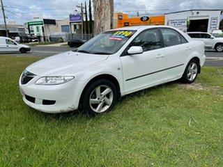 2004 Mazda 6 GG1031 MY04 Classic White 4 Speed Sports Automatic Sedan.