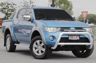 2009 Mitsubishi Triton ML MY09 GLX-R Double Cab Blue 5 Speed Manual Utility.