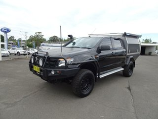2013 Ford Ranger PX XLS Double Cab Black Mica 6 Speed Manual Utility.