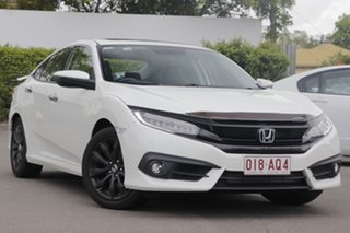 2017 Honda Civic 10th Gen MY16 RS White 1 Speed Constant Variable Sedan.