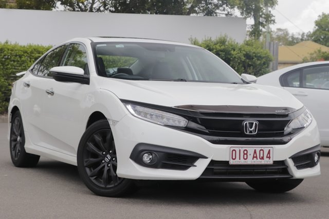 Used Honda Civic 10th Gen MY16 RS Mount Gravatt, 2017 Honda Civic 10th Gen MY16 RS White 1 Speed Constant Variable Sedan