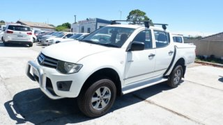 2010 Mitsubishi Triton MN MY10 GLX 4x2 White 4 Speed Automatic Cab Chassis.