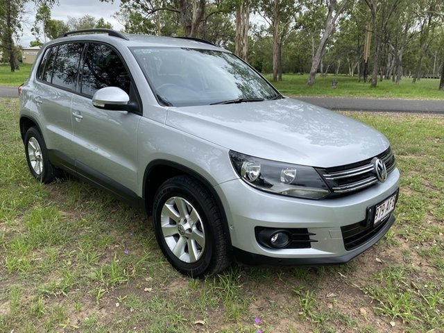 Pre-Owned Volkswagen Tiguan 5NC MY13.5 155 TSI (4x4) Chinchilla, 2013 Volkswagen Tiguan 5NC MY13.5 155 TSI (4x4) Silver Ash 7 Speed Auto Direct Shift Wagon