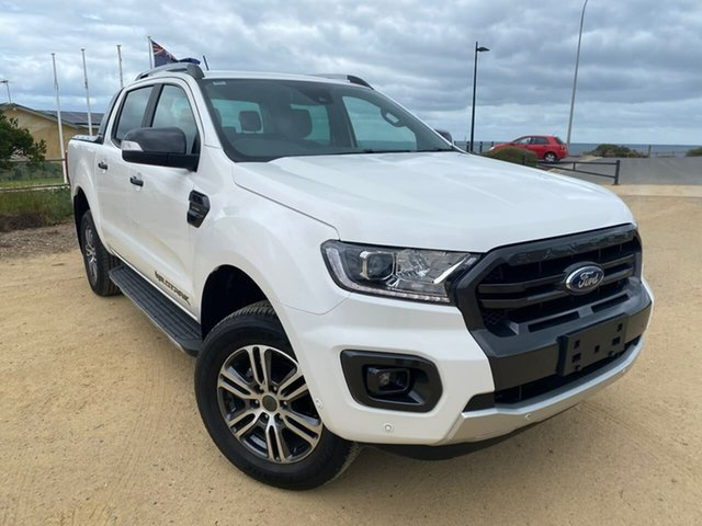 Used Ford Ranger PX MkIII 2020.75MY Wildtrak Christies Beach, 2020 Ford Ranger PX MkIII 2020.75MY Wildtrak White 10 Speed Sports Automatic Double Cab Pick Up
