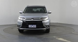 2017 Mitsubishi Outlander ZK MY17 LS (4x4) Silver Continuous Variable Wagon.