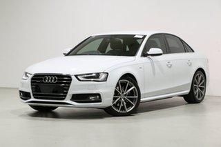 2016 Audi A4 F4 MY17 (B9) 2.0 TFSI Quattro S Tronic Spt White 7 Speed Auto Dual Clutch Sedan.