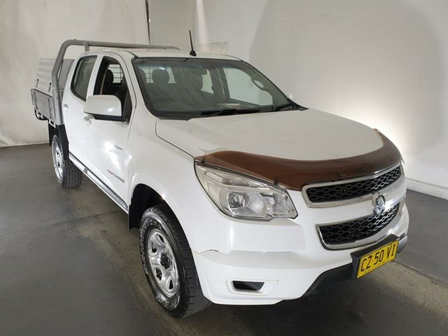 Used Holden Colorado RG MY13 LX Crew Cab Maryville, 2012 Holden Colorado RG MY13 LX Crew Cab White 5 Speed Manual Cab Chassis