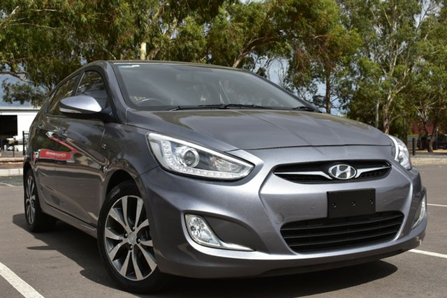 Used Hyundai Accent RB3 SR St Marys, 2014 Hyundai Accent RB3 SR Grey 6 Speed Sports Automatic Hatchback