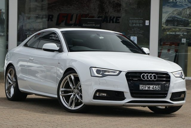 Used Audi A5 8T MY16 2.0 TFSI Quattro Rosebery, 2016 Audi A5 8T MY16 2.0 TFSI Quattro White 7 Speed Auto Direct Shift Coupe