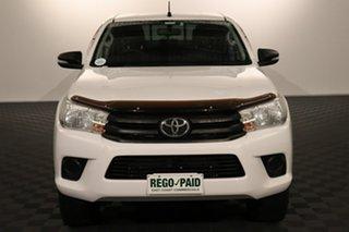 2016 Toyota Hilux GUN125R Workmate Double Cab Glacier 6 speed Automatic Utility.