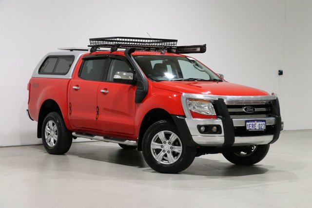 Used Ford Ranger PX XLT 3.2 (4x4) Bentley, 2015 Ford Ranger PX XLT 3.2 (4x4) Red 6 Speed Manual Double Cab Pick Up