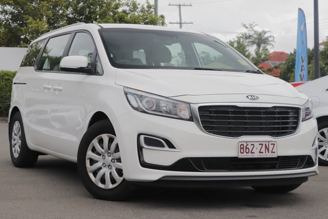 Used Kia Carnival YP MY19 S Mount Gravatt, 2019 Kia Carnival YP MY19 S White 8 Speed Sports Automatic Wagon