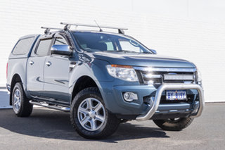 2013 Ford Ranger PX XLT Double Cab Blue 6 Speed Manual Utility.