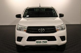 2017 Toyota Hilux GUN125R Workmate Double Cab Glacier 6 speed Automatic Utility.