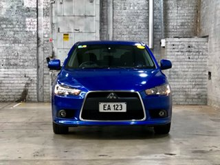 2014 Mitsubishi Lancer CJ MY14.5 GSR Sportback Blue 5 Speed Manual Hatchback.