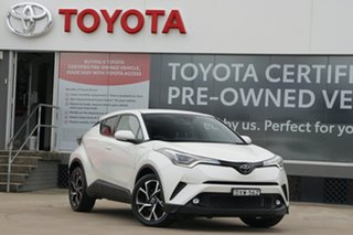 2018 Toyota C-HR NGX50R Koba S-CVT AWD Pearl White 7 Speed Constant Variable Wagon.