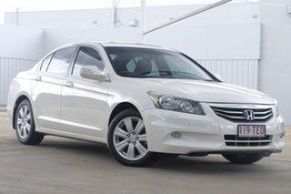2012 Honda Accord 8th Gen MY12 V6 Luxury White 5 Speed Sports Automatic Sedan.