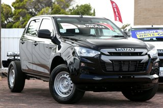 2020 Isuzu D-MAX RG MY21 SX Crew Cab Black 6 Speed Manual Cab Chassis.