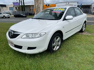 2004 Mazda 6 GG1031 MY04 Classic White 4 Speed Sports Automatic Sedan.