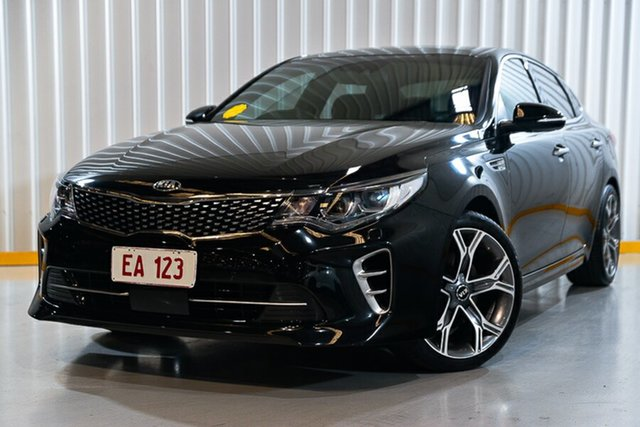 Used Kia Optima JF MY18 GT Hendra, 2017 Kia Optima JF MY18 GT Black 6 Speed Sports Automatic Sedan