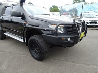 2013 Ford Ranger PX XLS Double Cab Black Mica 6 Speed Manual Utility