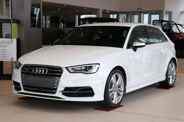 Used Audi S3 8V MY16 Sportback S Tronic Quattro Essendon Fields, 2016 Audi S3 8V MY16 Sportback S Tronic Quattro White 6 Speed Sports Automatic Dual Clutch Hatchback