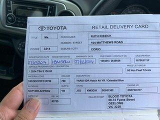 2014 Toyota Yaris NCP130R YR 4 Speed Automatic Hatchback