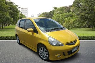 2007 Honda Jazz GD VTi-S Yellow 7 Speed Constant Variable Hatchback.