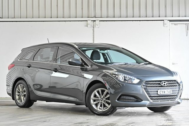 Used Hyundai i40 VF4 Series II Active Tourer D-CT Laverton North, 2015 Hyundai i40 VF4 Series II Active Tourer D-CT Grey 7 Speed Sports Automatic Dual Clutch Wagon