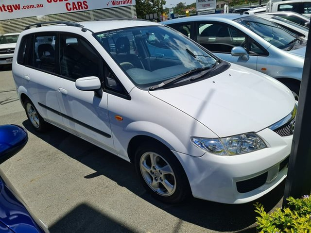Used Mazda Premacy CP10P1 Mount Gravatt, 2002 Mazda Premacy CP10P1 White 5 Speed Manual Hatchback