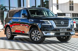 2020 Nissan Patrol Y62 Series 5 MY20 TI-L Black Obsidian 7 Speed Sports Automatic Wagon