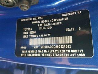 2018 Toyota Hilux GUN126R SR5 Double Cab Nebula Blue 6 Speed Sports Automatic Utility