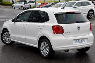 2012 Volkswagen Polo 6R MY12.5 Trendline White 5 Speed Manual Hatchback.