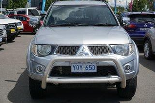 2012 Mitsubishi Triton MN MY12 GLX-R Double Cab Silver 5 Speed Manual Utility.
