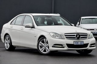 2012 Mercedes-Benz C-Class W204 MY12 C200 BlueEFFICIENCY 7G-Tronic + White 7 Speed Sports Automatic.