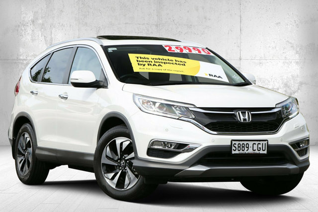 Used Honda CR-V RM Series II MY16 VTi-L 4WD Valley View, 2015 Honda CR-V RM Series II MY16 VTi-L 4WD White Orchid 5 Speed Sports Automatic Wagon